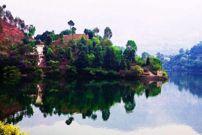 The surreal lake in Naukuchiatal, Uttarakhand