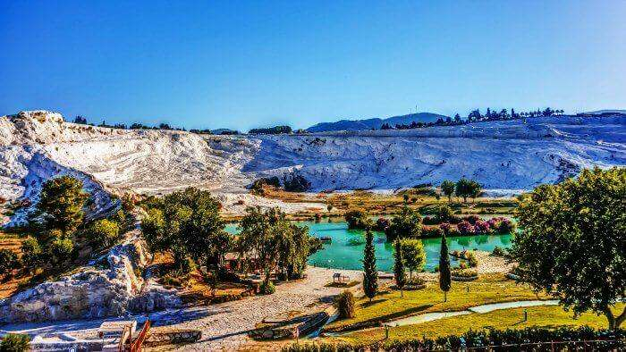Head to Pamukkale in Turkey for honeymoon