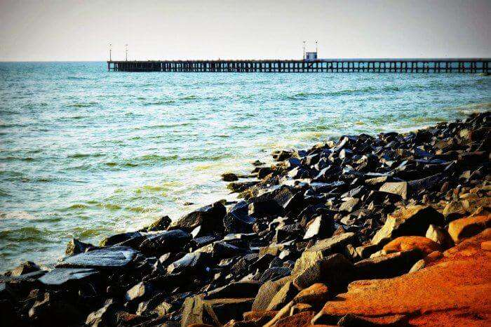 Promenade Beach is one of the most famous places to visit in Pondicherry