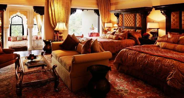 Rambagh Palace in Jaipur is amongst the most luxurious palaces in India