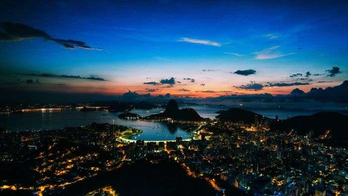 Rio de Janeiro at night is amongst the best places in the world for honeymoon