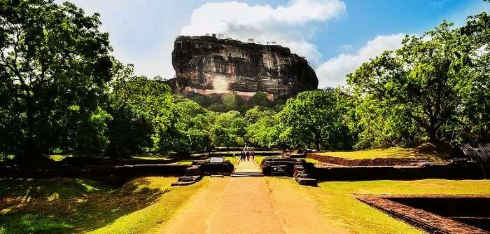 Sigiriya Rock Fortress in Sri Lanka is amongst the many beautiful places in Sri Lanka