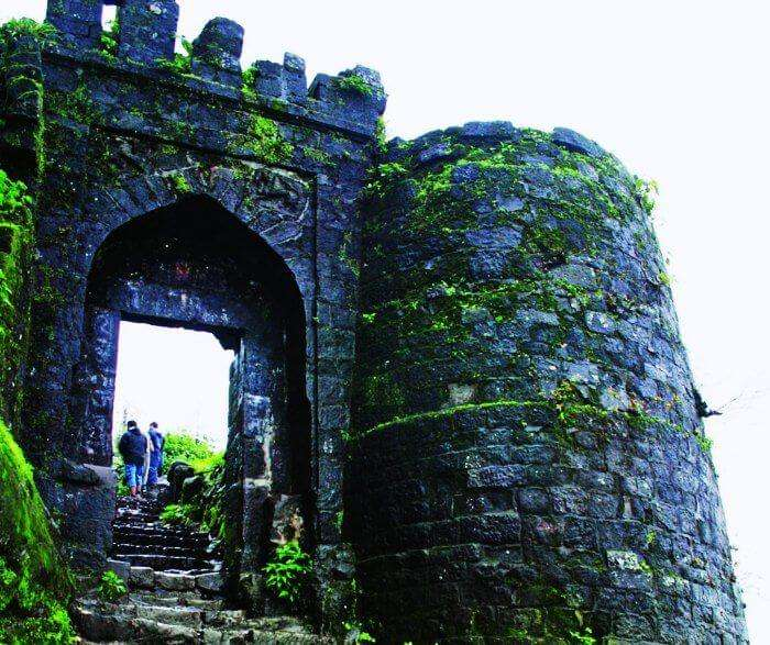Sinhagad Fort is one of the best places to visit near Pune and Mumbai in monsoons