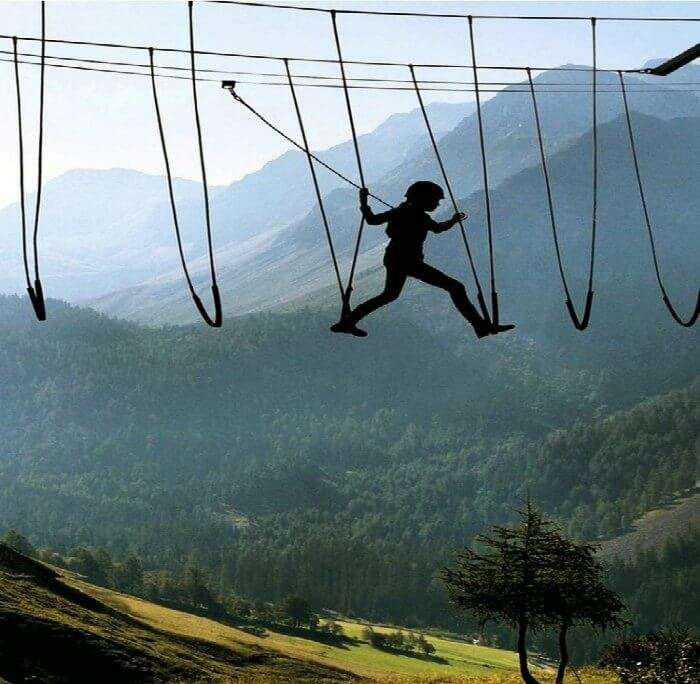 Skywalking in the Alps