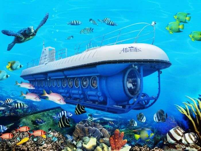 A Submarine ride is one of the most fun things to do in Maldives