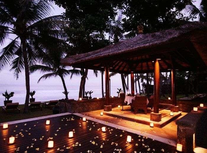 Beachfront hotel The Legian in Seminyak, Bali