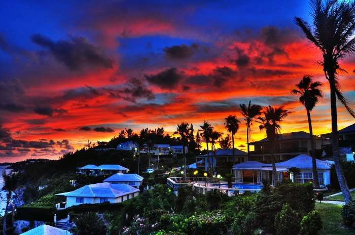 The dramatic skies of Bermuda make for an idyllic romantic escape