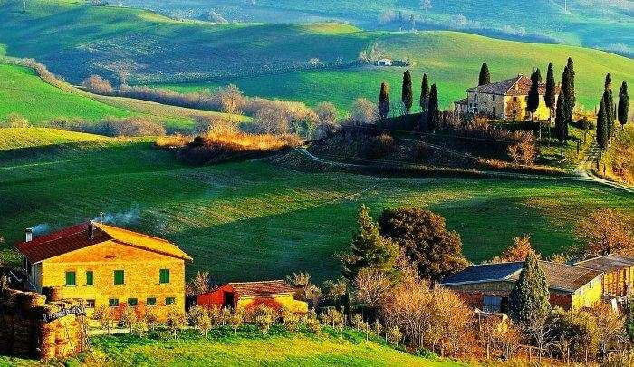 Tuscany is an offbeat romantic honeymoon place in the world