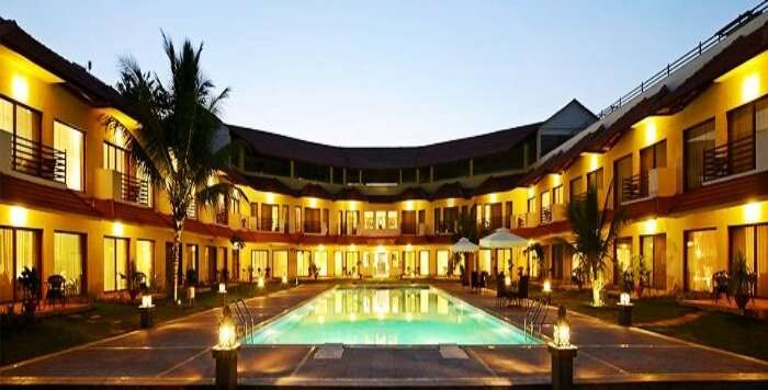 One of the most beautiful resorts near Mumbai for family is the U Tropicana at Alibaug