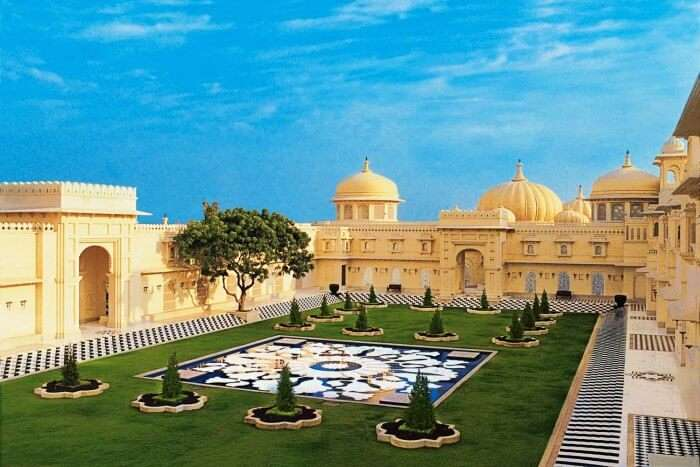Udaivilas Palace in Udaipur is one of the most famous palaces in India