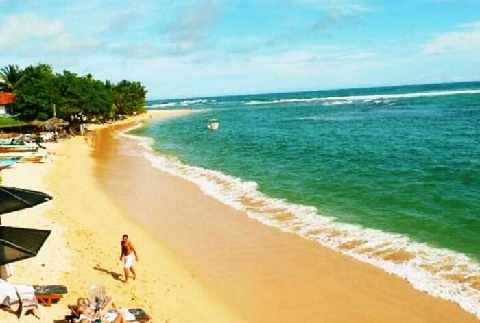 Sandy shores of Unawatuna make it one of the best beaches in Sri Lanka