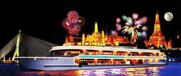 White Orchid River Dinner Cruise is a great way of exploring nightlife in Bangkok for couples