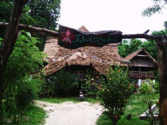 The lovely entrance of Wild Orchid Resort