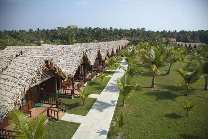 views of palms resort in andaman