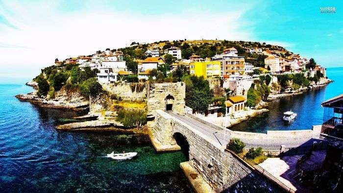 Amasra island in Turkey