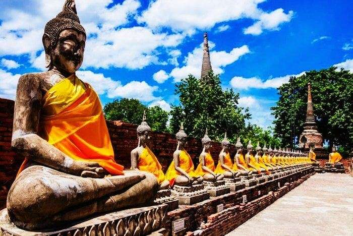Ancient Buddha Statues in Ayutthaya are one of the most visited tourist places in Thailand
