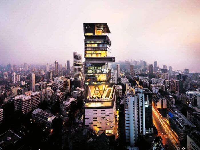 28 storey Antilla - Mukesh Ambani's residence in Mumbai