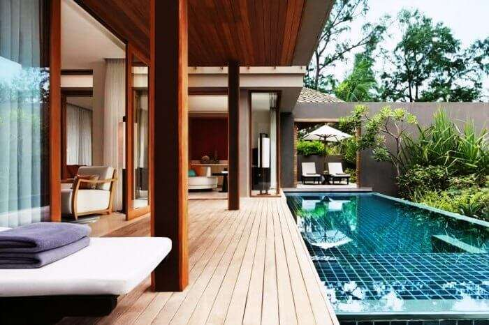 The beautiful luxury suite at Renaissance Phuket beach resort with a private pool
