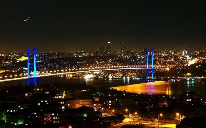The Bosphorous bridge in Istanbul