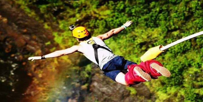 Face your fear of heights and jump off the cliff in Rishikesh