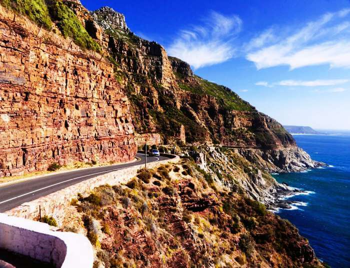 Rocky mountains at Chapman's Peak Drive, Cape Town