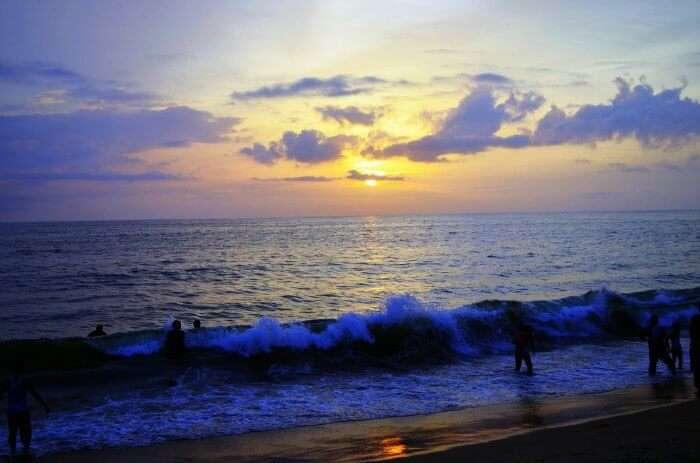 Sunset in Cherai Beach