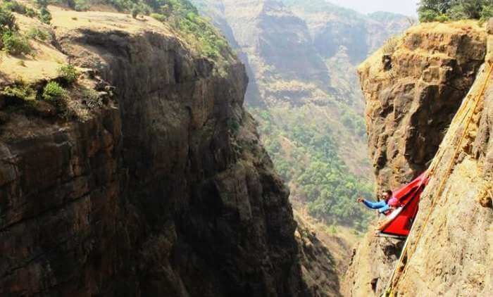 Go for an adventurous nightout as your camp hanging from the cliff in Sandhan Valley
