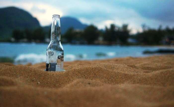 beer on the beach of diu