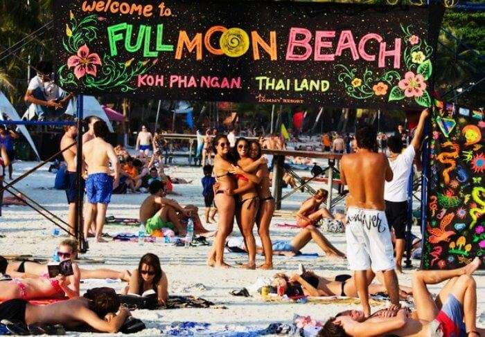 Full Moon Party On Koh Pha Ngan