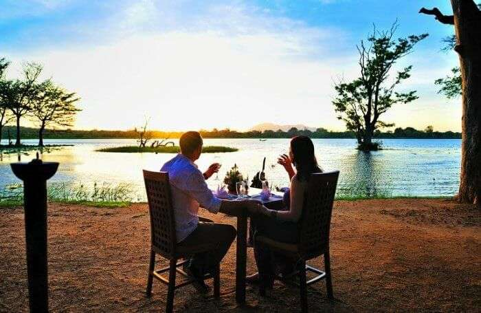 Woo your partner with a date at the dramatic jungle lodges overlooking the mystic lakes