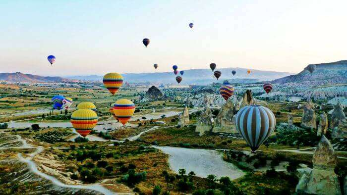 Hot-air ballooning in the beautiful backdrop of Turkey
