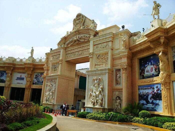 Innovative Film City entrance in Bangalore