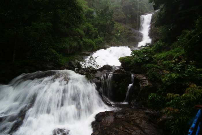 The gushing streams of Iruppu falls in Kerala