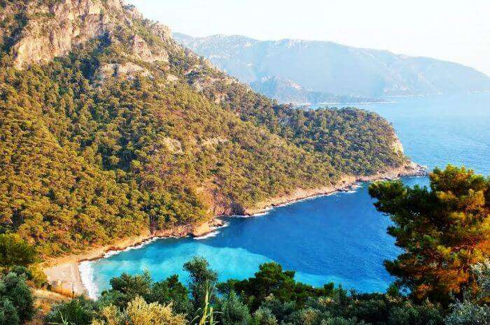 Aerial view of the Kabak Bay