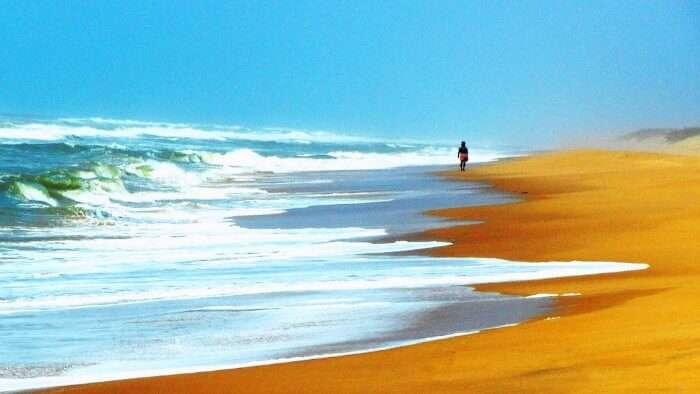 Konark Beach near the Jagannath Temple in Orissa