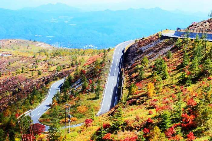 Road to Mt Kusatsu-Shirane, Japan