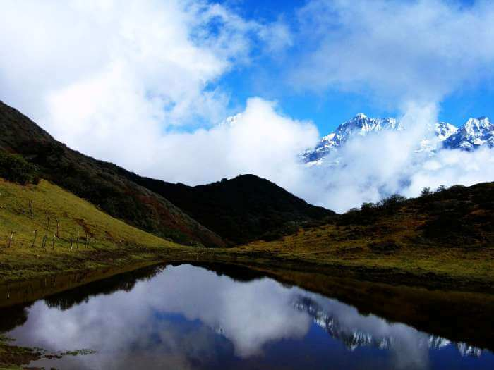 A picturesque lake in Dzongri, Sikkim