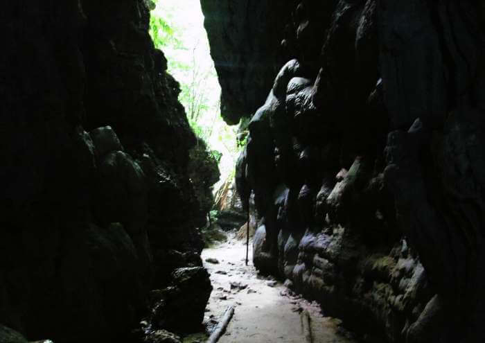 Limestone caves in Baratang Island