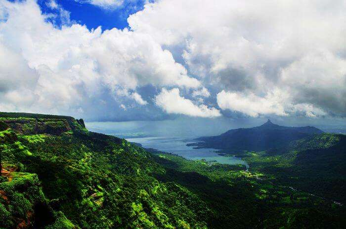 A wide camera shot of the greenery of the Matheran Hill