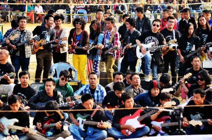 Record breaking guitar ensemble in Nagaland