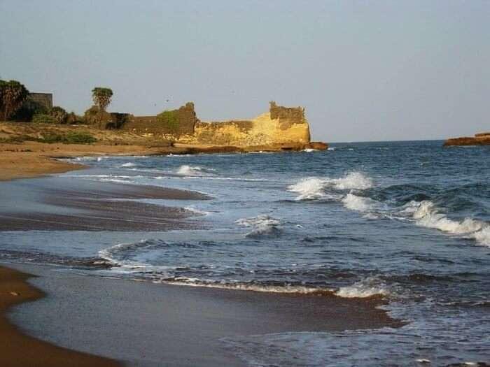 One of the most beautiful beaches in India, Nagoa beach in Diu