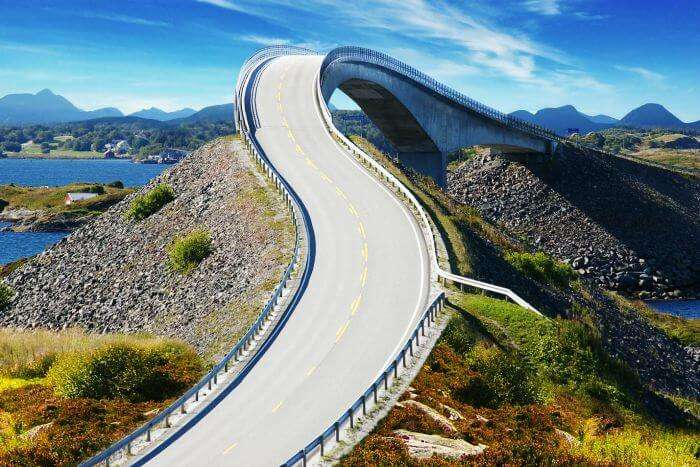 One of the best roads in the world-The Atlantic Road in Norway