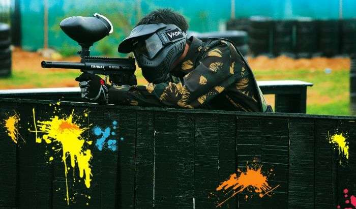Paintball with friends surely has to be on your list of fun things to do in Delhi