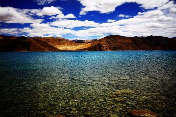 Pangong Lake in Jammu & Kashmir