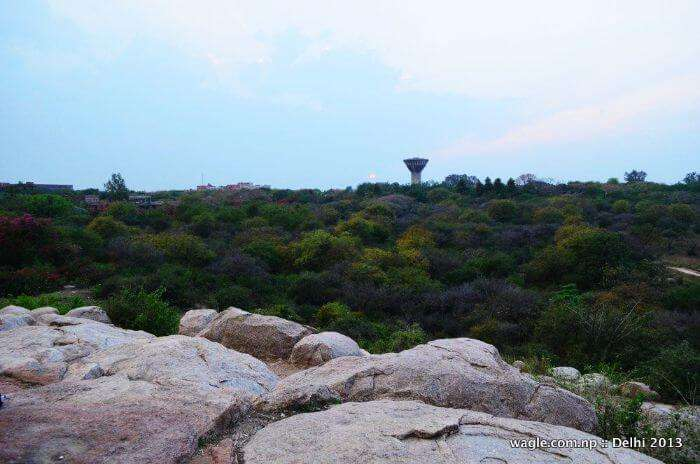 One of the most romantic places in Delhi, Parthasarathy Rock in JNU