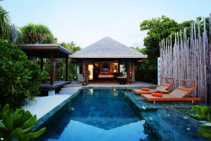 The romantic setting of the poolside View Anantara Villas in Phuket