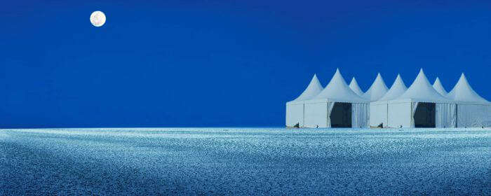 An image of the moon-lit Rann of Kutch