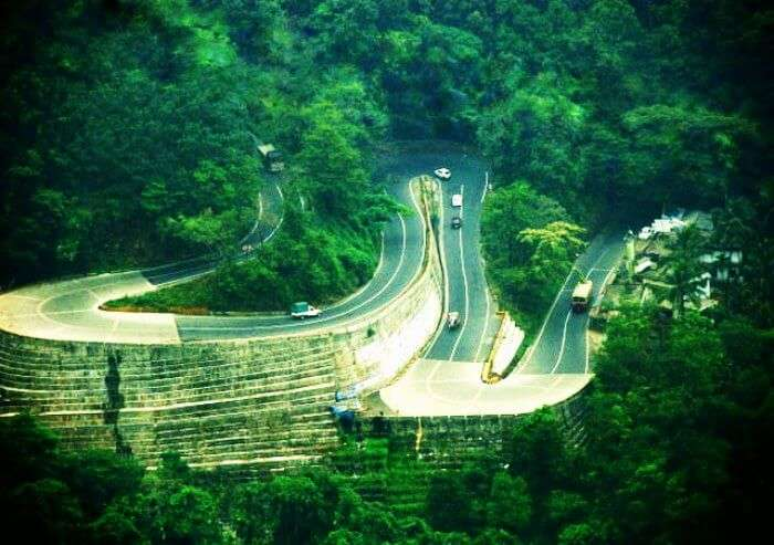 Curvy roads on your road trip to Coorg from Bangalore