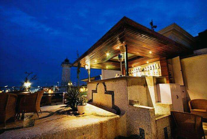 The magnificent rooftop restaurant- Lighthouse at the Promenade Hotel