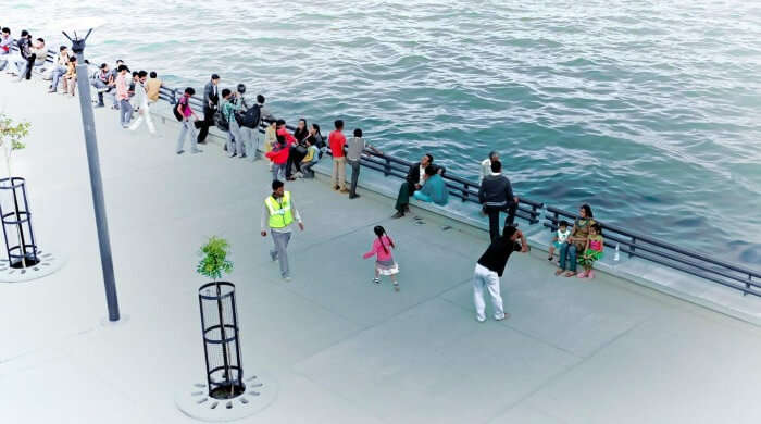 People hanging out at sabarmati river front